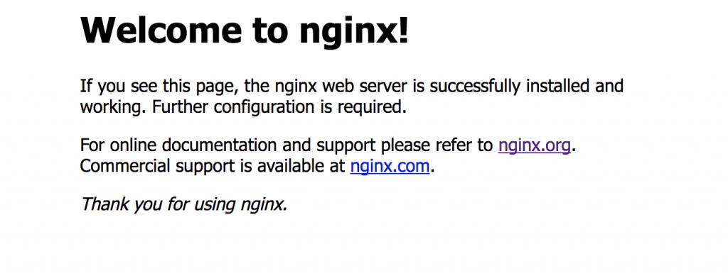 Pagina de inicio despues de instalar nginx